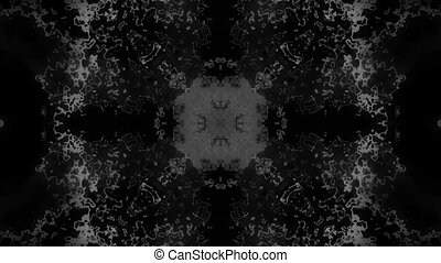 Black and white abstraction looping texture - Abstract black...