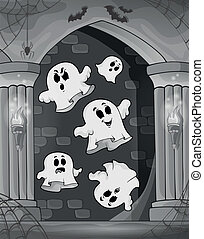 Black and white alcove and ghosts 2