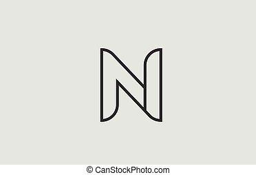 N White Letter Logo Design With Black Square N White Letter Logo