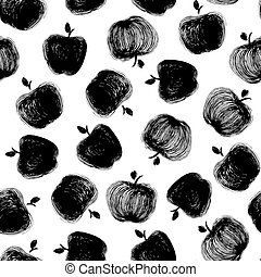 black and white Apple pattern.eps