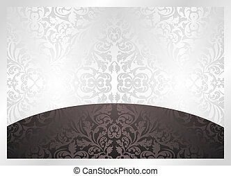 black and white background with ornaments