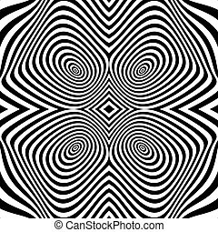 Black and White Background. Pattern With Optical Illusion.