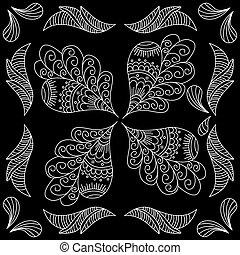 Black and white bandana print