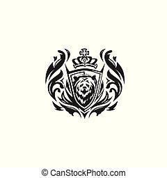 black and white bear logo vector illustration.