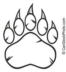 Black And White Bear Paw