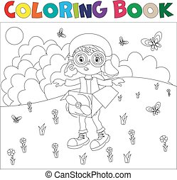 Black And White Book Coloring The Boy Plays In Pilot