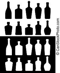 black and white bottles