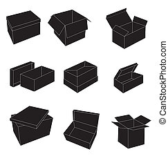 Black and white boxes