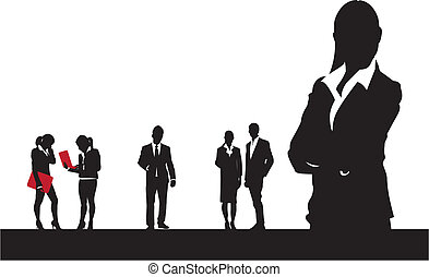 black and white business people