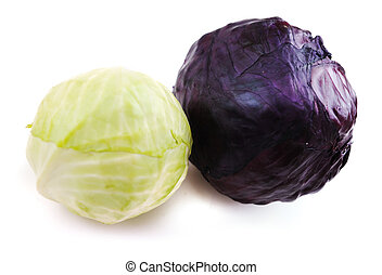 Black and white cabbage