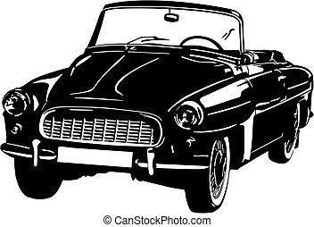Black and white car icon