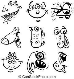 black and white cartoon monsters - Black and White Cartoon ...