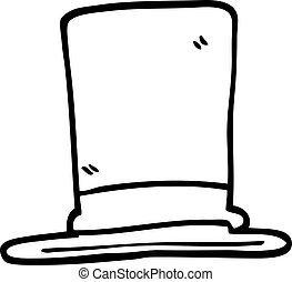 black and white cartoon top hat