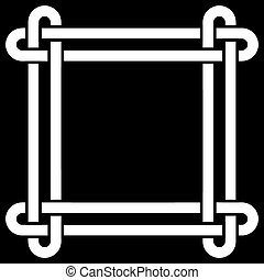 Celtic knot frame vector