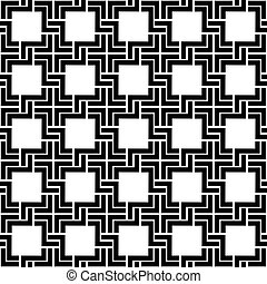 Black and white checkered geometric seamless pattern. Vector background