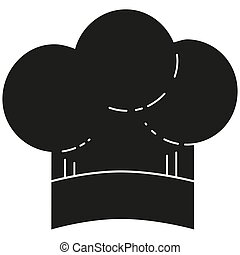 Black and white chef hat silhouette