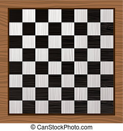 Black and white chess board - Black and white wooden chess...
