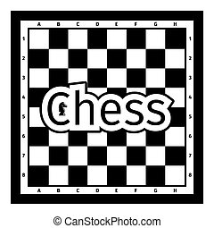 Black and white chess board