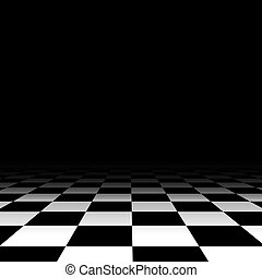 Black and white chess floor background