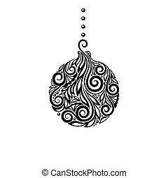 black and white christmas ball gre - Black And White Christmas