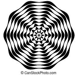 Black and White Cicrular Pattern
