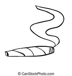 black and white cigar