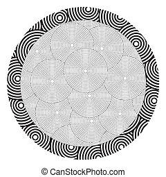 Black and white circle pattern