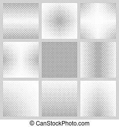 Black and white circle pattern set