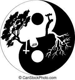 Black and White circle