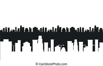 black and white cities silhouette - cities silhouette. Black...