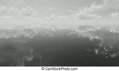 Black and white cloudscape - Black and white time lapse of...