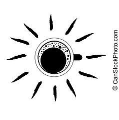 Black and White Coffee Mug Illustration