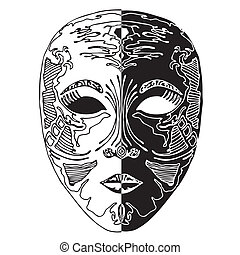Black and white combination- masque - Black and white ...