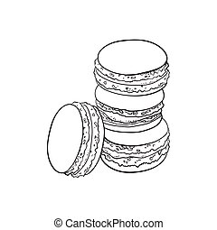 vector sketch hand drawn macaroni