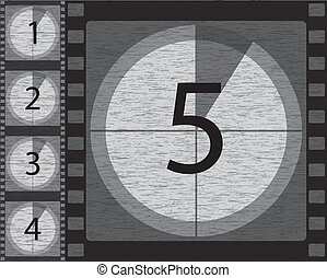 Black and white countdown with noisy background design