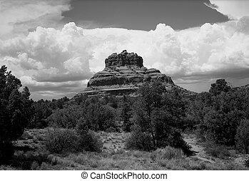 Sedona Arizona - Black and white country mountains...