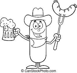 Black And White Cowboy Sausage