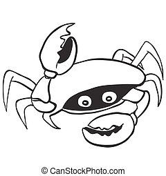 black and white crab