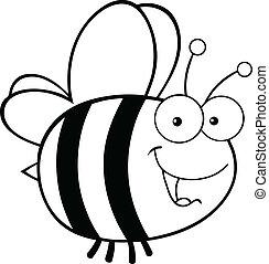 Honey Bee Clip Art Black And White