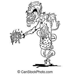 black and white devil ginnie cartoon