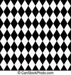 Black and White Diamond Shape Fabric Background that is...