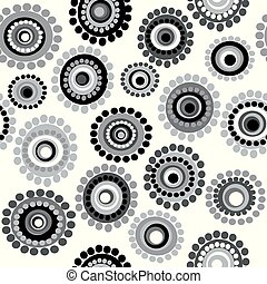 Black and white doodle floral background