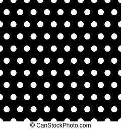 Black and White Dots Background - White polka dots...