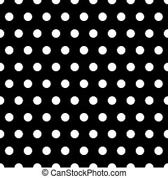 Black and White Dots Background - White polka dots...