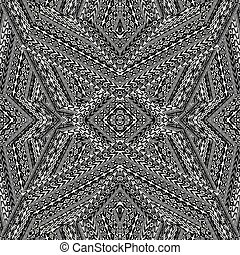 Black and white ethnic motifs pattern