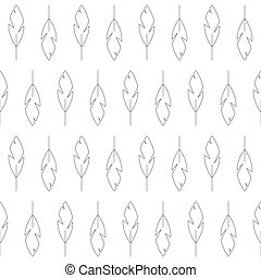black and white feather seamless pattern