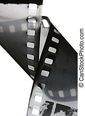 Black and white film strip