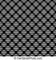 Black and white floral background pattern