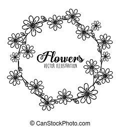 Black and white floral design