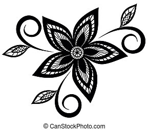 black and white floral pattern - black and white floral...